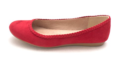 Style & Co. Womens Ciaraa Closed Toe Ballet Flats Deep Red CjzR9nyP