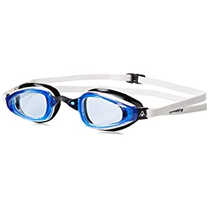 MP Michael Phelps K180 GT Swim Goggle, Blue Lens with White/Black Frame