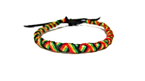 Handcrafted Bracelet - Rasta Style - Jamaican Bracelet - Rasta Bracelet