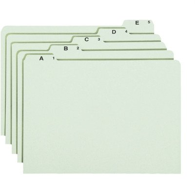 Recycled Top Tab File Guides, Alpha, 1/5 Tab, Pressboard, Legal, 25/Set, Sold as 1 Set ()