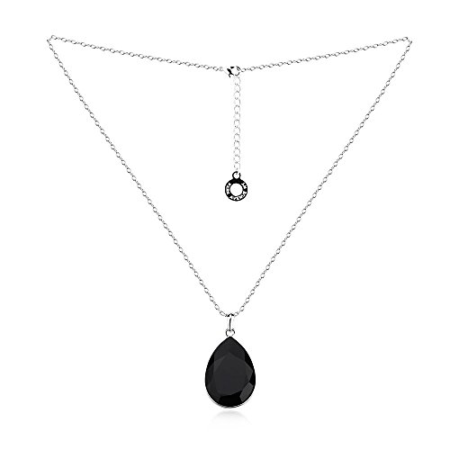 PARK AVENUE - collier BIG DROP - noir - Made with Crystals from Swarovski