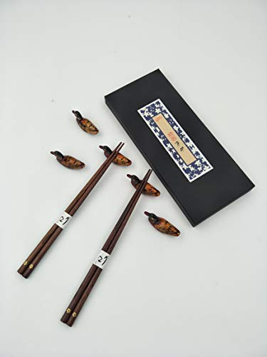 5 Pairs of Premium Wooden Chopsticks With Traditional and Authentic Style