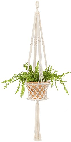 Mkono Macrame Hanging Planter Basket Plant Hanger Home Decor, up to 8 inch Flower Pot by Mkono