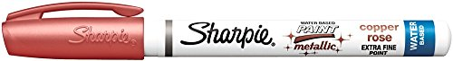 Sharpie Water-Based Metallic Paint Marker, Extra Fine Point, Copper Rose (1794972) by Sharpie