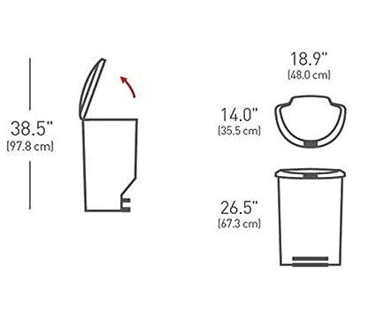 simplehuman 50 Litri semicircolare Pedal Bin