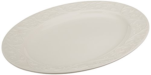 Lenox Opal Innocence Carved Large Oval Platter (Turkey Platter)