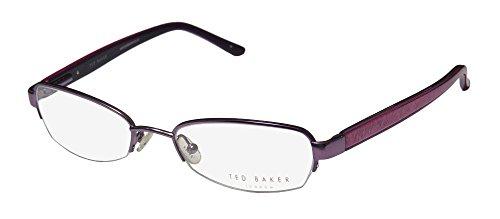 Ted Baker Lilah 2147 Womens/Ladies Designer Half-rim Spring Hinges Eyeglasses/Eye Glasses (51-18-0, - Baker Designer Ted Glasses