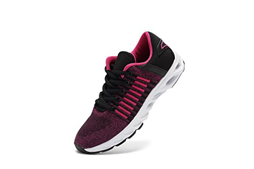 Unisex Couple Casual Rose Sneakers Breathable SUO Fashion Running Athletic Shoe Z Red Sports Women Men wSqXZxOtI
