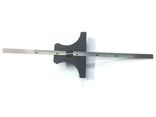 Stainless Steel Ruler Engineer's Depth Gauge Metric & Imperial 6