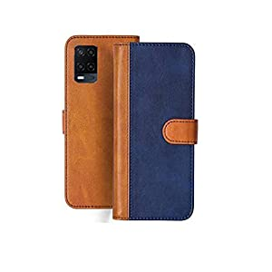 Trooz PU Leather Flip Wallet Phone Case with Inside TPU Shockproof Back Cover Case for Oppo A54