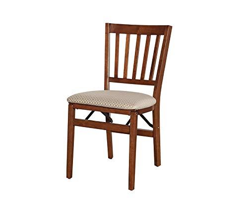 Premium Stakm School House Folding Chair Finish, Set of 2, Cherry