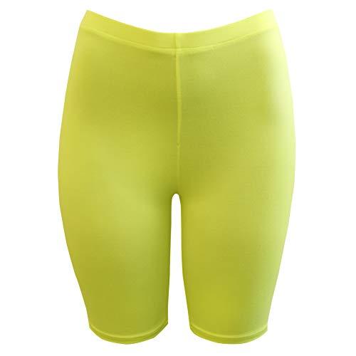(PnK Bike Shorts for Women Active Biker Yoga Shorts, Sexy Spandex Boyshort (NEON Yellow, Medium))