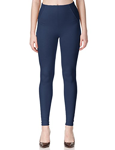 Regna X high Waist with Pocket Skinny Stretch Knit Navy Jeggings for Girls M
