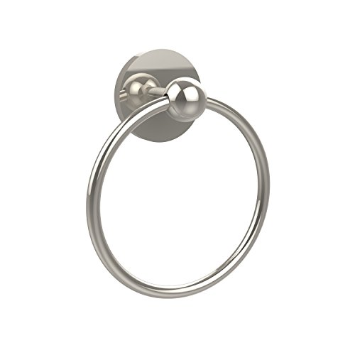 Allied Brass 1016-PNI Skyline Collection Towel Ring, Polished (Brass Skyline Towel Ring)