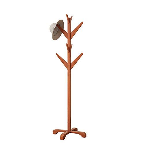 DlandHome Solid Wood Coat Rack, Entryway Free Standing Hat Jacket Coat Hanger Clothing Rack, Corner Hall Umbrella Tree, YJ001-HC Honey Color, 1 Pack by DlandHome (Image #4)