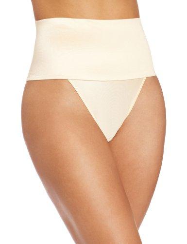 Rago Women's Wide Band Thong Panty, Beige, Medium (28) ()