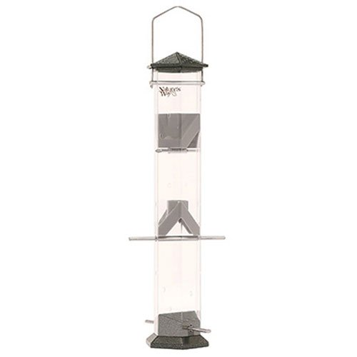 - Nature's Way Bird Products DT17-P Deluxe Twist and Clean Thistle Feeder, 17-Inch, Pewter