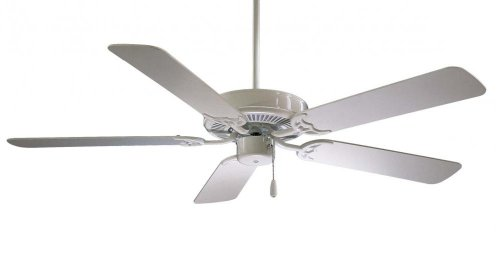 Minka-Aire F546-WH Downrod Mount, 5 White Blades Ceiling fan, White