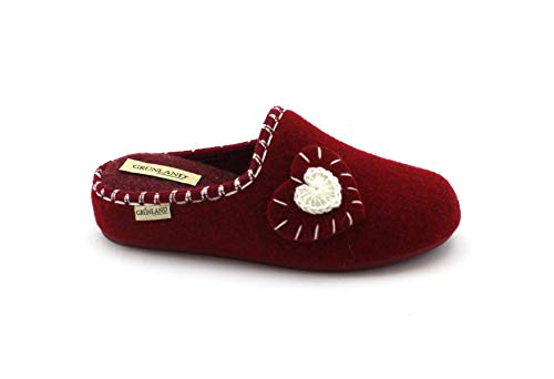 Rosso Ciabatte Donna Ilda Feltro Love Ci1365 Grunland qAwtnXIA