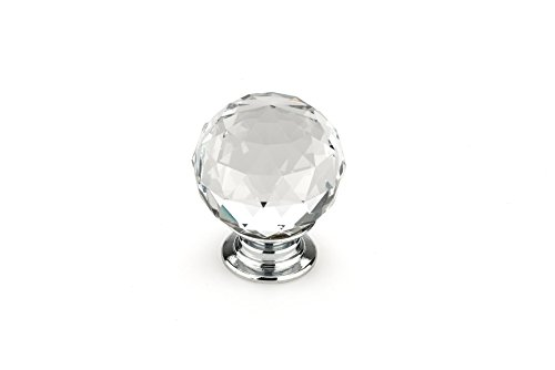 Richelieu Eclectic Metal Knob (Richelieu Hardware - BP87373014011 - Eclectic Crystal Knob - 8737 - Clear Crystal Chrome  Finish)