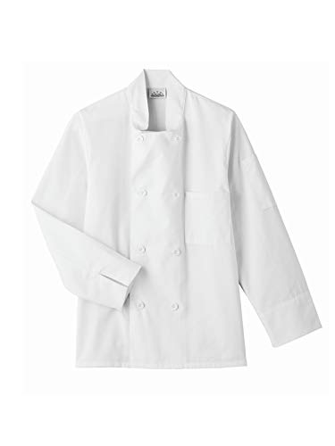 Five Star Chef Apparel 8 Button Jacket (White, X-Small) ()