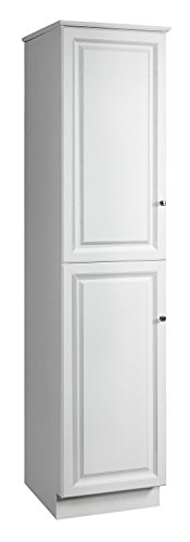 Design House 539700 Wyndham Ready-To-Assemble 2 Door Linen Cabinet, White, 19-Inches Wide by 84-Inches Tall by 22.25-Inches Deep