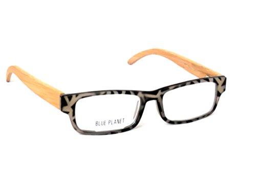 BLUE PLANET Reading Glasses Eco Friendly Men Women Sustainable Bamboo Ladies Designer Eyeglasses Milky Tortoise - Blue Glasses Planet