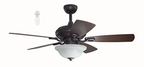 Litex TLEII44OSB5L One Step Bronze 44-inch Ceiling Fan with Quick Connect Five Reversible Blades ()