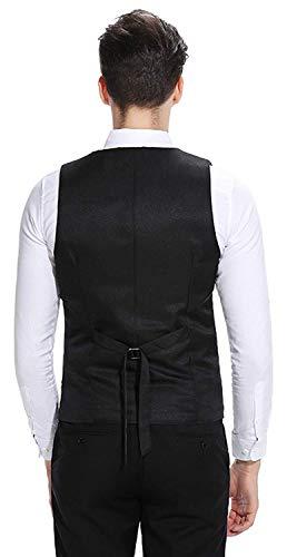 Sottile Materiale Ragazzi Laisla Fashion Vestitino 1 Testurizzato Realizzato Gilet Contrasto Sposa Slim Con black Fit In Uomo Classiche Da waIB0a