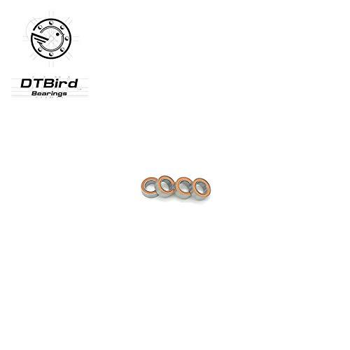 (Ochoos SMR104 2RS 4x10x4 Ceramic Bearings Stainless Steel Hybrid Ceramic Ball)