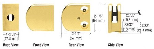 (C.R. LAURENCE Z110BR CRL Brass Z-Series Large Round Clamp for 3/8