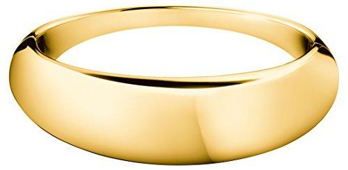 CALVIN KLEIN - Bracelet Rigide Fermé Pvd Doré Calvin Klein Ellipse - - S