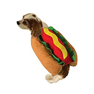 Cute Hot Dog Pet Costume Dog Cat Wiener Bun Halloween Food Small Medium