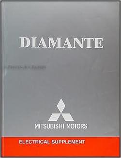 2004 Mitsubishi Diamante Wiring Diagram Electrical Manual Original:  Mitsubishi: Amazon.com: BooksAmazon.com
