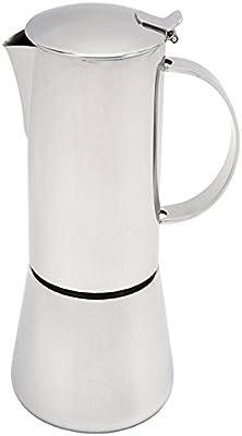 Sonia – Cafetera de espresso 10 tazas en acero inoxidable 18/10 ...