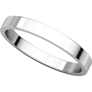 10k White Gold 2.5mm Flat Stacking Ring