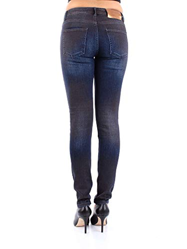 Algodon Silvian Pga18357jedenim Heach Mujer Jeans Azul 8HHAa1xn