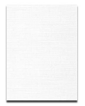 Neenah CLASSIC LINEN 8.5 x 11 Card Stock - Solar White - 80lb Cover - 250 PK