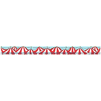 48b0a0c7 Eureka Dr. Seuss 'If I Ran The Circus' Bulletin Board Trim and Classroom