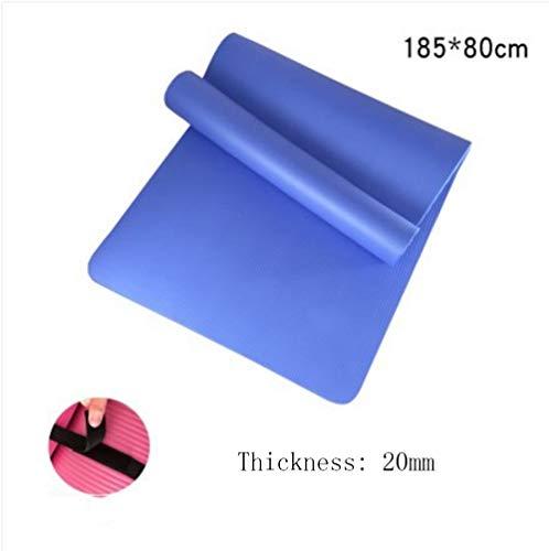 Mdck Fitness Mat,185cm Single Pad Yoga Mats Thickened 20mm Wide 80cm Pilates Mat