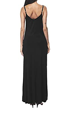 I2CRAZY Women's Summer Casual Loose Dress Beach Cover Up Long Cami Maxi Dresses with Pocket