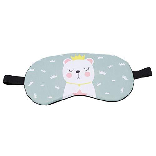 LZIYAN Cartoon Sleep Eye Mask Breathable Cute Animal Pattern Sleeping Mask Travel Sleeping Blindfold Nap Cover Gift For Everyone,Green Crown Bear by LZIYAN (Image #1)