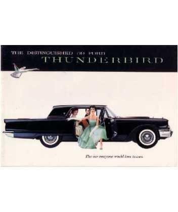 - 1959 FORD THUNDERBIRD Sales Brochure Literature Book