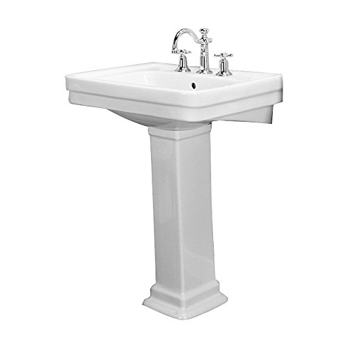 Barclay Sussex Bisque Complete Pedestal Sink 3-668BQ