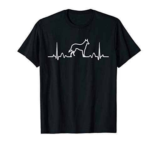 German Shepherd Dog Heartbeat Funny Dog Gift Tee Shirt