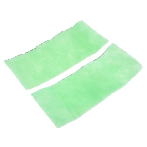 Uxcell 2-Piece Uncell Fish Tank Biochemical Filter Sponge, 11.4-Inch, Green/White