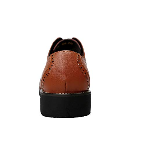 Oxford Zapatos Marrón Casual tamaño Fang Oxford Color Estilo Zapatos de para Genuino Marrón Cuero 2018 38 shoes EU Negocios Brogue de Hombre Hombre ppSnaFxB