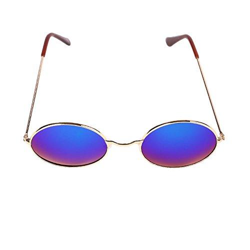 Beautyrain Lunettes de soleil rondes lunettes de soleil lunettes Hommes Unisexe Femmes Sunshading Retro Vintage Durable NGmquj6