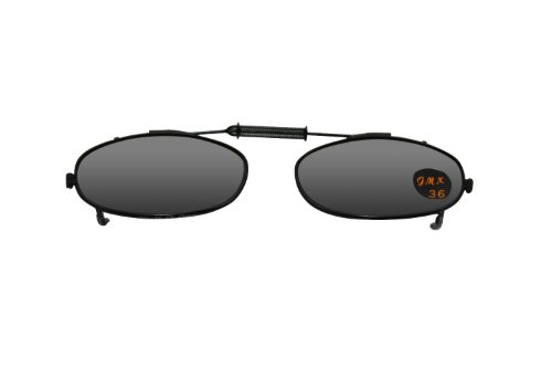 Rectangle Gray Lens Polarized Clip-on Sunglasses, Easy Driving, Fishing and - Turn Prescription Glasses Into Sunglasses