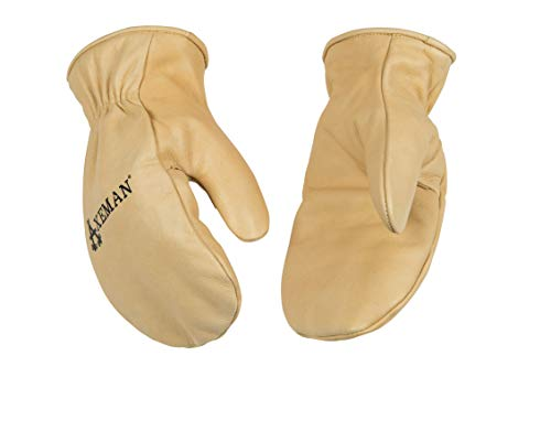 KINCO 1930-XL Mens Axeman Lined Cowhide Gloves, Mitten, Heat Keep Thermal Lining, X-Large, Golden